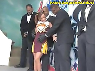 Cheerleader Interracial Cheerleader