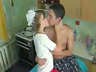 Cute Kissing Kitchen Russian