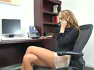 Blonde Office Secretary Boss