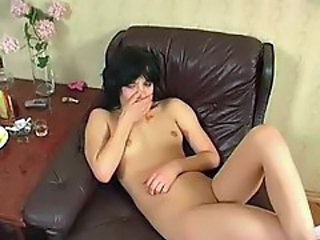 Brunette Drunk Russian Small Tits