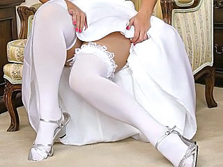 Bride Clothed Stockings Clothed Fuck Stockings