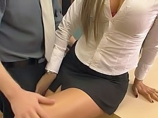 Office Pantyhose Skirt