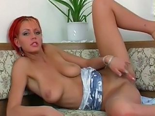 German Masturbating  Pussy Redhead  Shaved Solo German Milf German