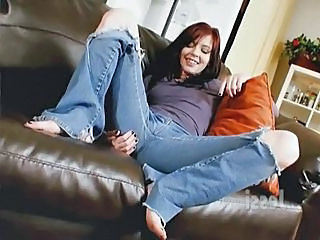 Hairy Jeans Redhead