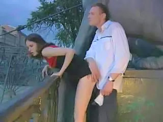 Brunette Clothed Doggystyle Hardcore Outdoor Public Skinny Outdoor Public