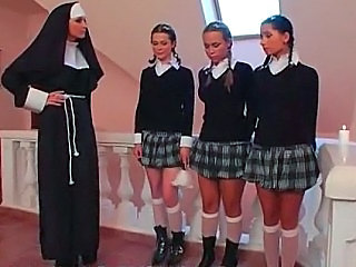 Nun Pigtail School Skirt Schoolgirl
