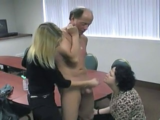 Handjob Old and Young Threesome Punish Old And Young