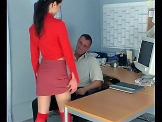 Brunette Office Secretary Skirt