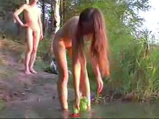 Outdoor Redhead Russian Skinny Young Outdoor