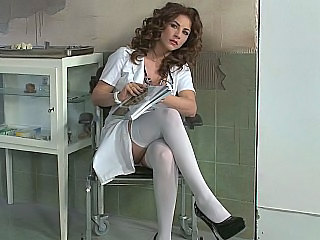 Brunette Doctor European Prison Stockings Uniform Son Stockings European