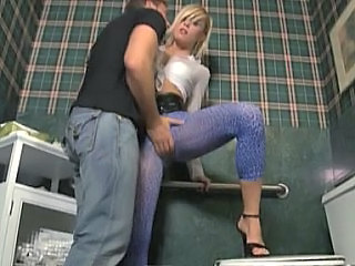 Amazing Blonde Feet Legs Toilet Bathroom Club Toilet Sex