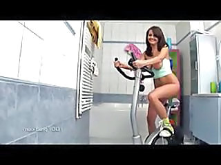 Brunette European Sport Dildo Riding European