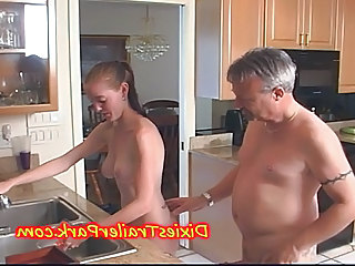 Daddy Daughter Kitchen Old and Young Teen Daddy Teen Babe Daddy Old And Young Kitchen Teen Dad Teen