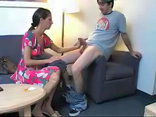 Clothed Handjob  Mom Son Mom Son