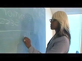 Blonde Ebony Glasses Teacher Ebony Ass