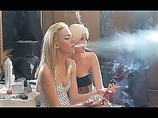 Babe Blonde Smoking Beautiful Blonde
