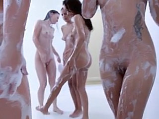 Lesbian Pussy Showers Tattoo Young