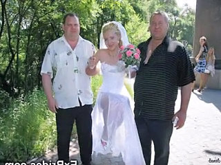 Amateur Blonde Bride Skirt Amateur