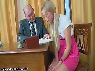Blonde Cute Teacher Old And Young Amateur