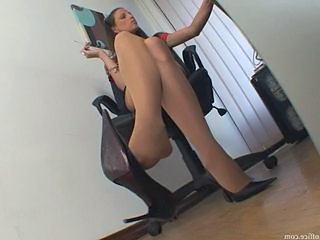 Feet Office Pantyhose Secretary Pantyhose