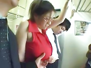 Asian Bus Glasses Riding Busty Glasses Busty Bus + Asian