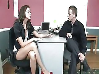 Brunette Glasses Office Secretary Interview