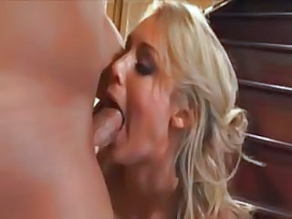 Blonde Blowjob Deepthroat  Blowjob Milf Milf Blowjob