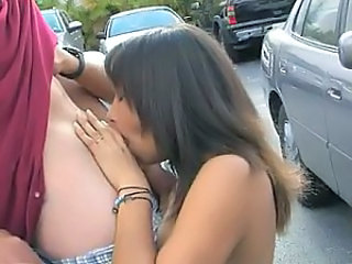 Blowjob Brunette Car Outdoor Student Car Blowjob Outdoor College