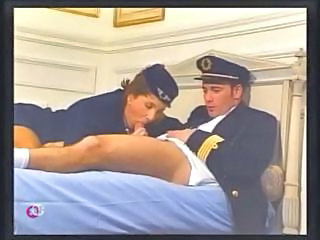 Brunette Pornstar Uniform Vintage Stewardess