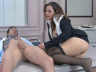 Brunette Hardcore Office Pornstar Secretary Stockings Stockings