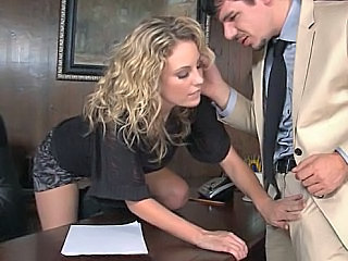 Babe Blonde Office Pornstar Secretary Office Babe