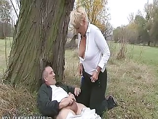 Granny Handjob Older Outdoor Outdoor