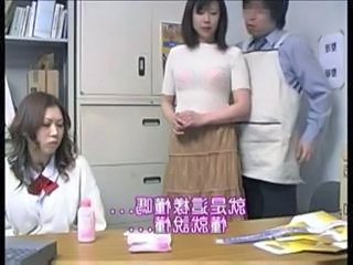 Asian Office Threesome Caught