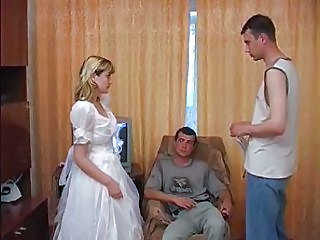 Blonde Bride Threesome Threesome Blonde