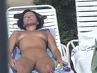 HiddenCam Nudist Outdoor Shaved Voyeur