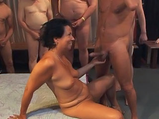 Gangbang with german matures