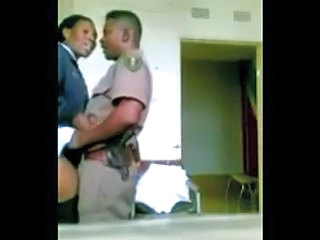 Ebony HiddenCam Office Uniform Voyeur Police Married Caught