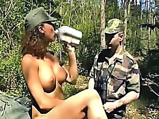 Army Big Tits Drunk Outdoor Uniform Big Tits Outdoor