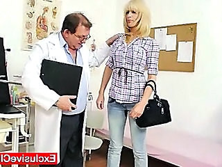 Blonde Doctor  Uniform Gyno