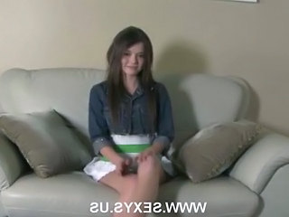 Amateur Brunette Skinny Skirt Amateur