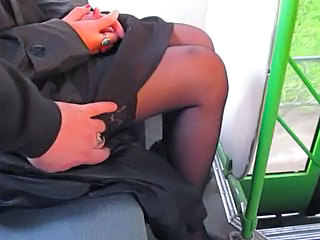 Bus Stockings Voyeur Stockings