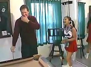 Asian Cheerleader Old and Young Pigtail Skirt Uniform Cheerleader Old And Young