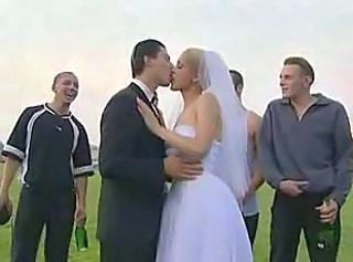 Bride Kissing Russian Wedding