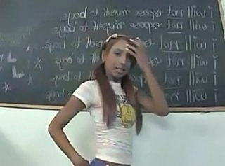 Ebony Pigtail School Skinny Schoolgirl School Teacher