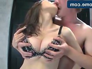 Asian Kissing Korean Lingerie Natural Lingerie Bus + Asian