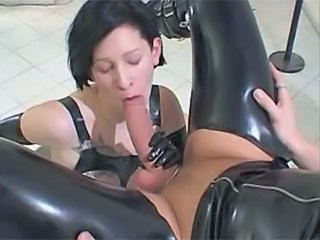 Blowjob Brunette Fetish Latex  Tattoo Blowjob Milf Milf Blowjob