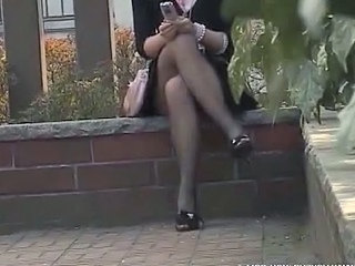 Asian Outdoor Pantyhose Outdoor Pantyhose Panty Asian