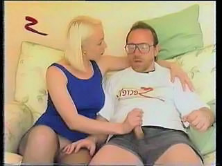 Big Tits Blonde Handjob  Pantyhose Blonde Mature Son