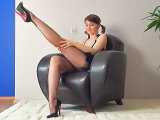 Amazing Legs Masturbating Solo Stockings Pantyhose