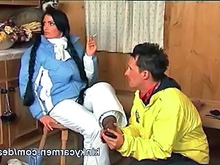 Femdom Feet German Slave Smoking German
